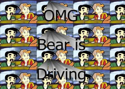 OMG bear is driving!