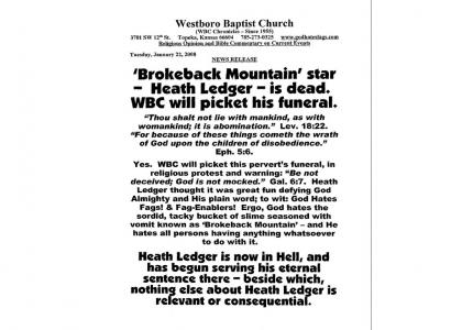 The Baptist Church Honours Heath