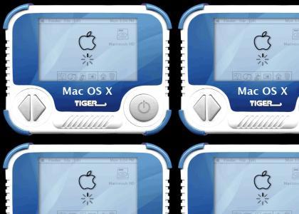 Mac OS X Tiger Handheld!