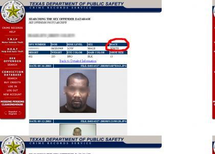 Sex offender fails at... race?
