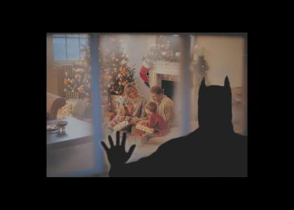 It's a lonely Christmas for Batman