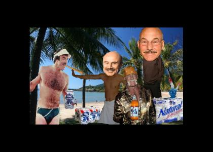 Pacard's epic mustache party on the beach