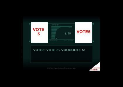 VOTE5TMND: Metal Gear VOTE 5