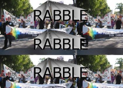 RABBLE RABBLE!