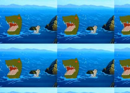 Funny Sharptooth vs. Big Water