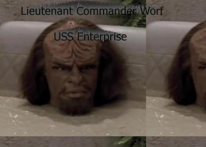 Worf in the mud