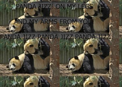 Panda Jizz on my legs and my arms for you!