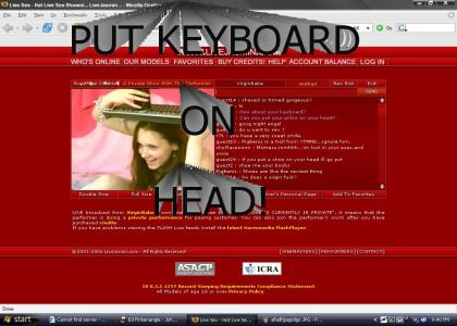 Sobe and Keyboard on Head!