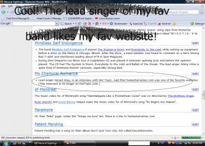 Gerard Way likes HomestarRunner.com!