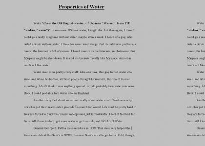 Waters Properties