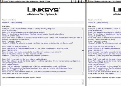 Linksys costumer service people don't get paid enough