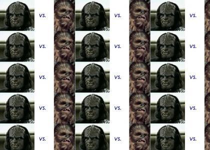 Chewbacca VS. Worf