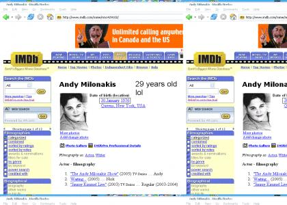 Andy Milonakis is 29 years old