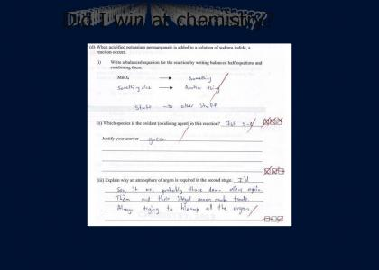 I won at Chemistry!