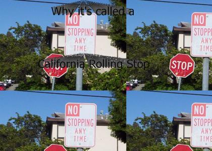 California Rolling Stop