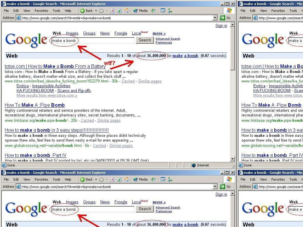 googlemakebomb
