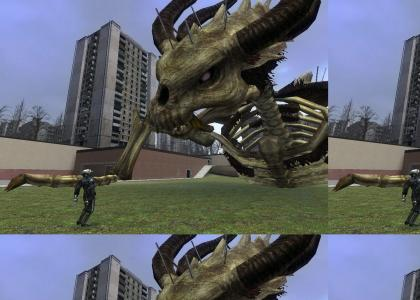 Stallord attacks the world of Half-Life 2