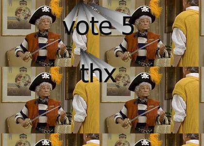 Estelle Getty Is A Pirate