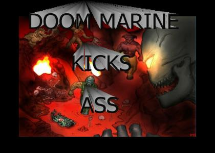Doomguy Kicks Ass