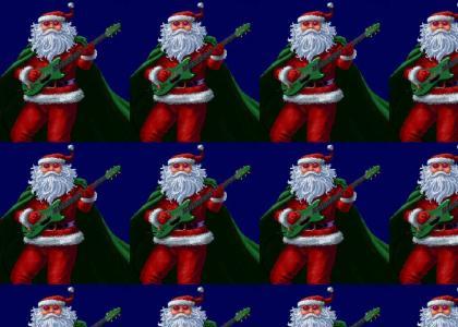 Santa Rocks Hard!