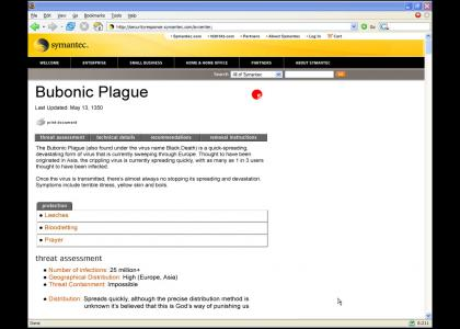 HISTORYTMND: Bubonic Plague Virus Notification