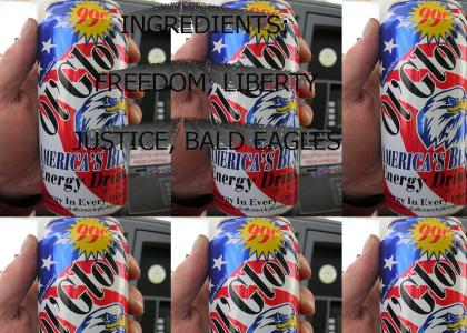The Patriotic American's Energy Drink Of Choice