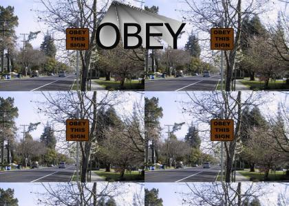 Obey This Sign