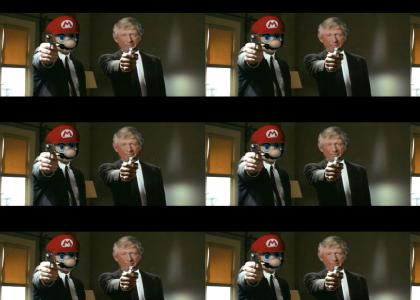 Pulp Fiction starring Ted Koppel and Mario