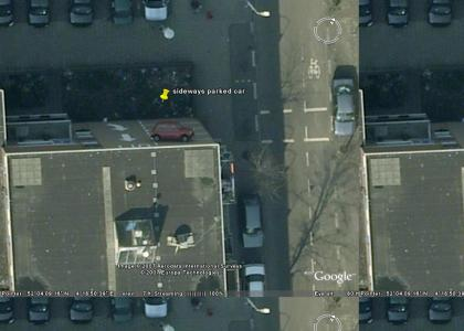 OMG Sideways Car on Google Earth! (Now WITH Coordinates)