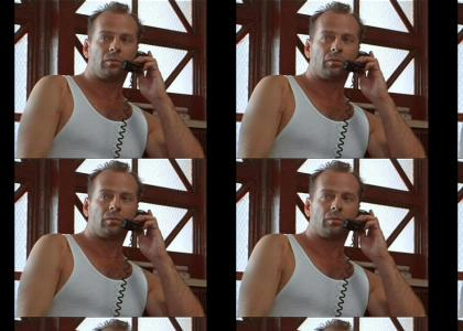 John McClane lets the family know