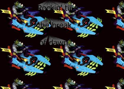 Teenage Mutant Ninja Turtles... Rocksteady Waterski!