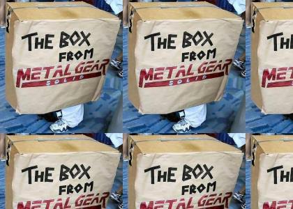 Metal Gear Solid Cardboard Box Cosplay