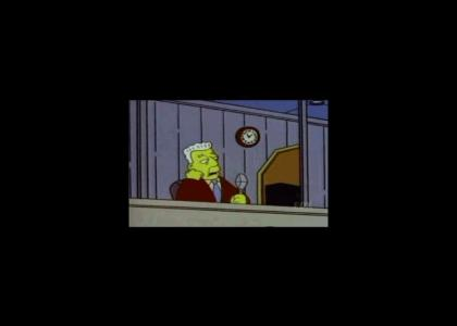 Kent Brockman: Half-back passes to the center...