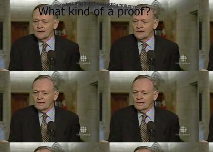 Jean Chrétien wants proof