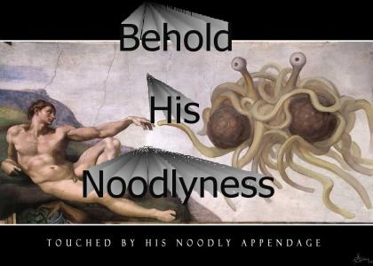 Flying Spaghetti Monster!