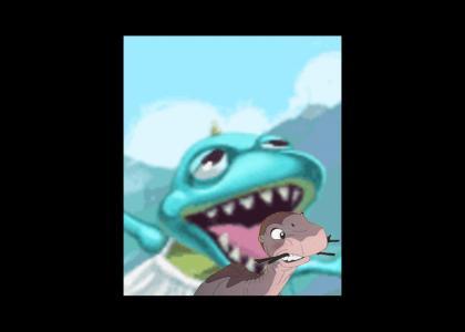 Prehistoric Dinosaur rapes Littlefoot