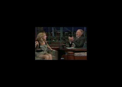 Hermione and Letterman Hoedown (original gif returned)