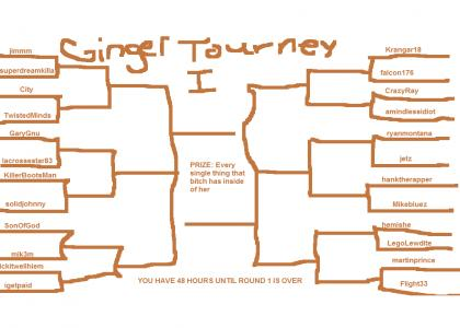 GINGER TOURNEY BRACKET