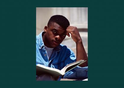 Will Smith reading a book (picnic classics)