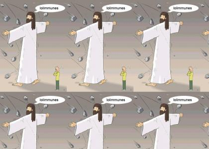 Jesus defends us