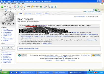 Brian Peppers Fails At Wikipedia