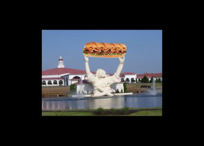 Touchdown Jesus is hungry.