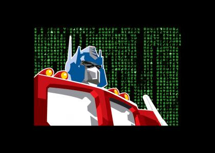 Optimus Prime in the Matrix animated version