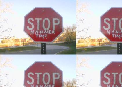 Stop. Hammer Sign.
