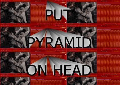 put pyramid on head
