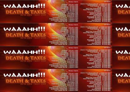 Awww... Poor Death & Taxes Alliance Fags.
