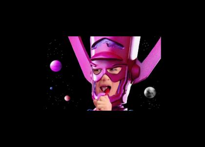 GALACTUS BRUSHIN TEETH after DEVOURING WORLDS (and watching Lazytown.)
