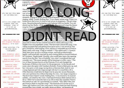 TOO LONG, DIDN'T READ