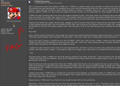 JoshCube Wants YTMND Down...