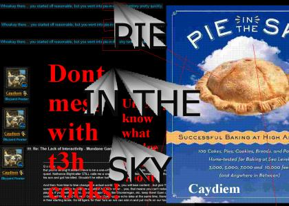 Cay talks pie in the sky...